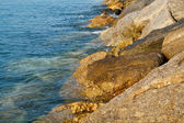 Rocky shoreline — Stock Photo