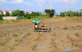 Tractor and mud — Stockfoto