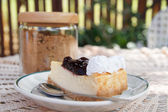 Cheesecake de arándanos — Foto de Stock