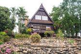 Triangular roof house — Stock Photo