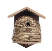 Birdhouse, isolated on white — Stock Photo