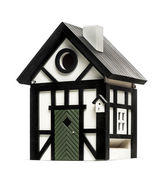 Birdhouse isolated on white — ストック写真