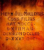 Inscripción antigua en latín — Foto de Stock