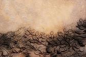 Stenen bladeren en bloemen — Stockfoto