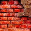 Old and damaged brick wall — Stock Photo