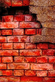 Old and damaged brick wall — Stock Photo