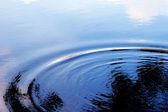 Ripple on the water and reflection of sky — Stock Photo