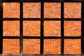 Brick wall of half timbered house — Stock Photo