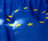 Fragment of the flag of the European Union — Stock Photo