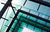 Glass architecture against the sky — Stock Photo