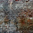Old dilapidated brick wall — Stockfoto #18702291