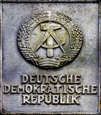 Emblem of German Democratic Republic — Stock Photo