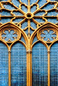 Ornamental window of the church — Stock Photo