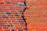 Brick wall with a crack — Stock Photo