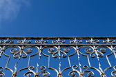 Handrail against the blue sky — Stock Photo