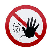 The sign of no assess — Stock Photo