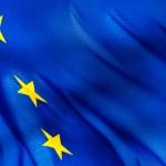 Fragment of a European Union flag — Stock Photo