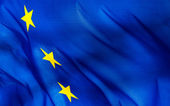 Fragment of a European Union flag — Stock Photo
