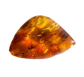Mineral amber on white background — Stock Photo