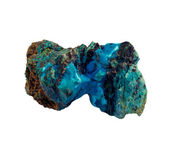 Blue mineral and stone on white background — Stock Photo