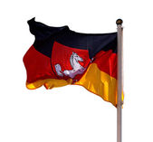 German flag of Lower Saxony on white background — Stock Photo