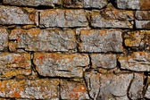 Old stone wall in the sunlight — Foto Stock