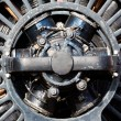 Old electric motor in the sunlight — Stockfoto