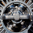 Old electric motor in the sunlight — Stock fotografie
