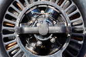 Old electric motor in the sunlight — Stock Photo