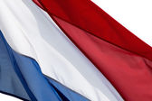 Netherlands flag on white background — Stock Photo