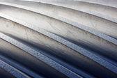Thread on metal of a cogwheel close up — Stock Photo