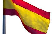 在白色背景上的西班牙国旗 — 图库照片