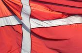 Bandeira da dinamarca à luz do sol — Foto Stock