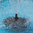 Water spray of fountain on turquoise background — Stock Photo #24718713