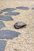The Stone path in a Zen Garden — Stockfoto