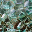 Abstract decorative glass cubes on the wall — Stock Photo