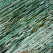 Motley abstract glass on the wall — Stock Photo