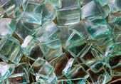 Abstract decorative glass cubes on the wall — Stockfoto