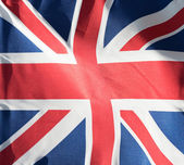 Fragment of the British flag in sunshine — Stock Photo