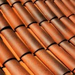 Stock Photo: Shingles on roof in sunshine