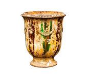 Old urn vase on a white background — Stock Photo