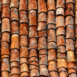 Old shingles a the roof — Stock Photo