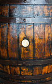 Background of wooden a old barrel — Stock Photo