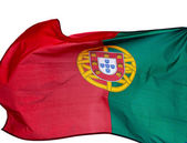 Flag of Portugal on a white background — Stock Photo