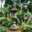 Japanese lantern in the tropical garden — Stock Photo