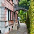 Rear view of  tropical monte palace in Madeira — Stock Photo