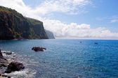 Mountain and rocks by the sea in Madeira — Stock Photo