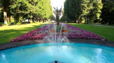 Summer garden of Bad Pyrmont — Stock Video