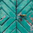 Fragment of old and dilapidated doors — Stok Fotoğraf #34720717