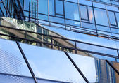 Modern glass architecture of office building — Stock Photo